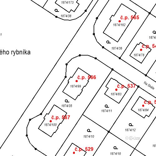Katastrální mapa Stavební objekt Soběslav III 566, Soběslav