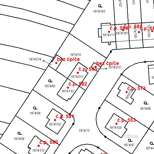 Katastrální mapa Stavební objekt Soběslav III 583, Soběslav