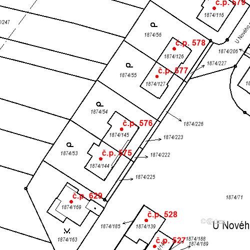 Katastrální mapa Stavební objekt Soběslav III 576, Soběslav