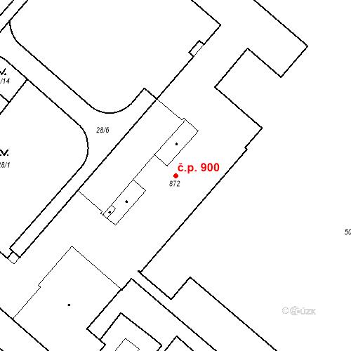 Katastrální mapa Stavební objekt Neratovice 900, Neratovice