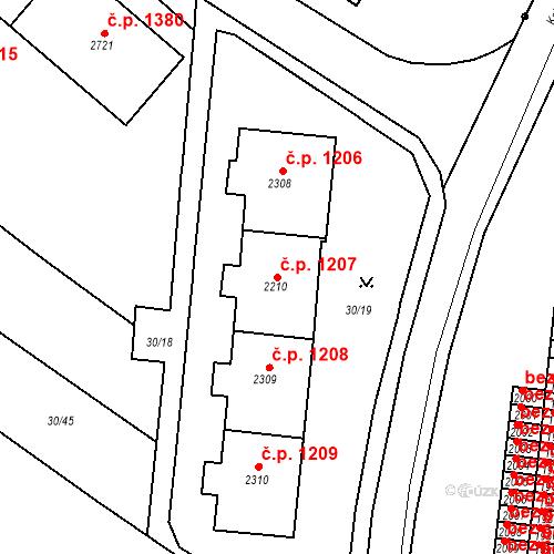 Katastrální mapa Stavební objekt Neratovice 1207, Neratovice