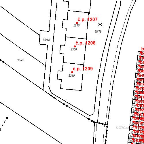 Katastrální mapa Stavební objekt Neratovice 1209, Neratovice