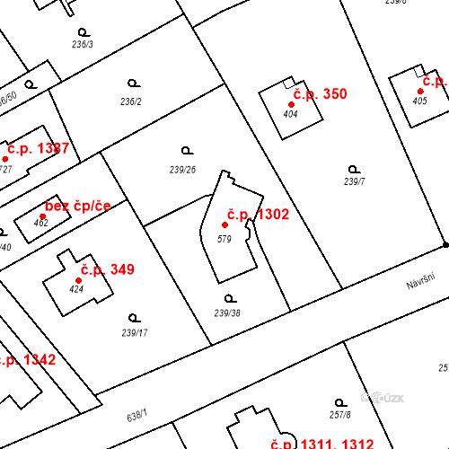 Katastrální mapa Stavební objekt Nová Hospoda 1302, Kamenice