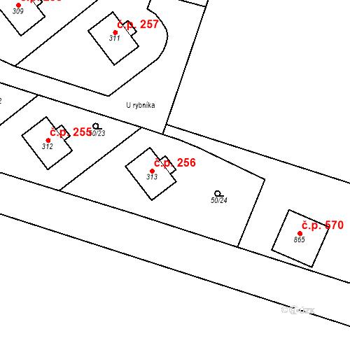 Katastrální mapa Stavební objekt Měšice 256, Měšice