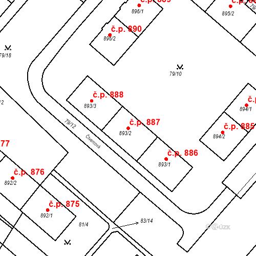 Katastrální mapa Stavební objekt Neratovice 887, Neratovice