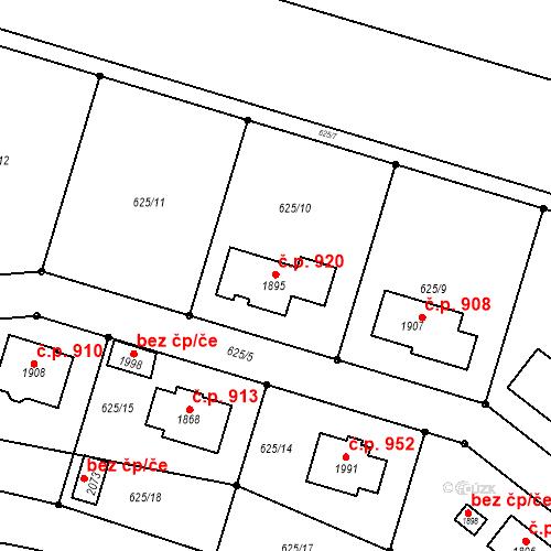 Katastrální mapa Stavební objekt Votice 920, Votice