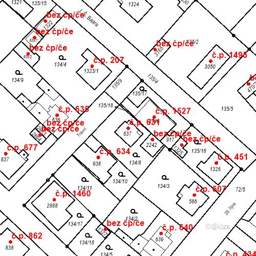 Katastrální mapa Stavební objekt Neratovice 631, Neratovice