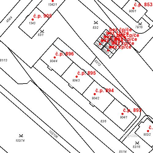 Katastrální mapa Stavební objekt Neratovice 895, Neratovice