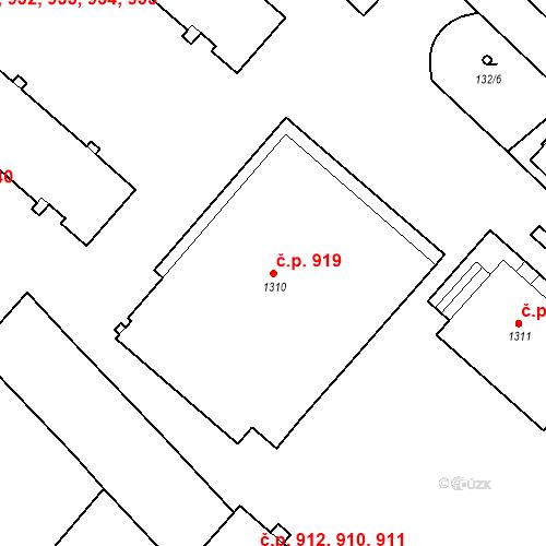 Katastrální mapa Stavební objekt Neratovice 919, Neratovice
