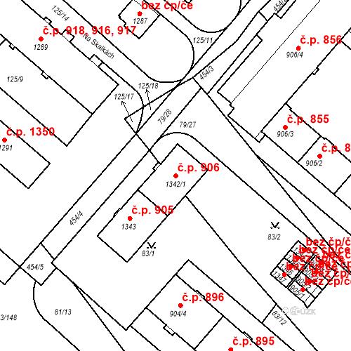 Katastrální mapa Stavební objekt Neratovice 906, Neratovice