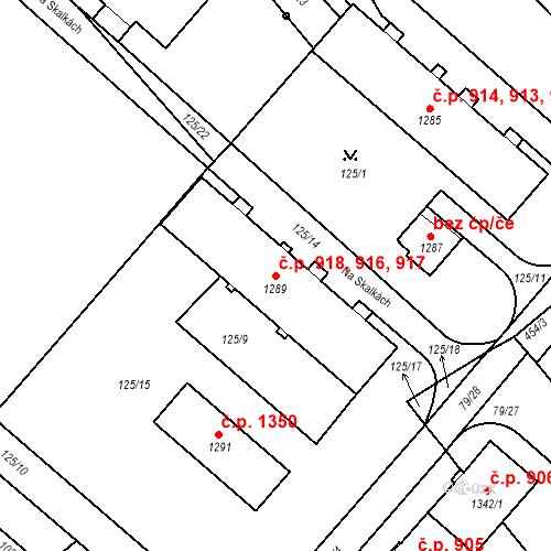 Katastrální mapa Stavební objekt Neratovice 916, 917, 918, Neratovice