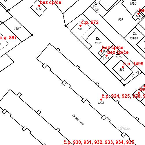 Katastrální mapa Stavební objekt Neratovice 924, 925, 926, 927, 928, Neratovice