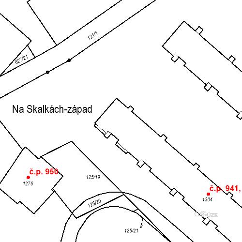 Katastrální mapa Stavební objekt Neratovice 936, 937, 938, 939, 940, Neratovice