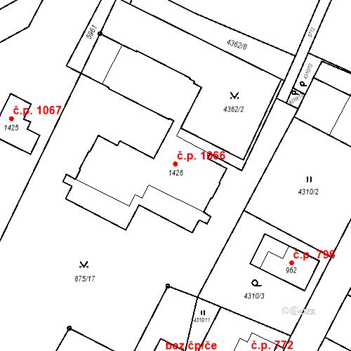 Katastrální mapa Stavební objekt Mikulášovice 1066, Mikulášovice