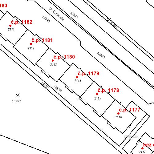 Katastrální mapa Stavební objekt Neratovice 1179, Neratovice
