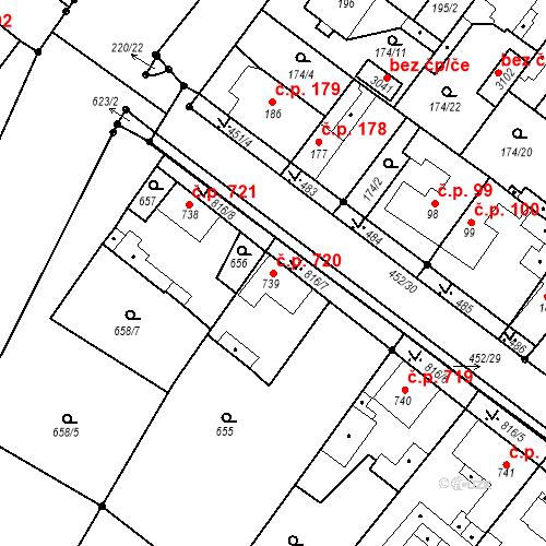 Katastrální mapa Stavební objekt Neratovice 720, Neratovice