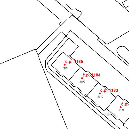 Katastrální mapa Stavební objekt Neratovice 1185, Neratovice