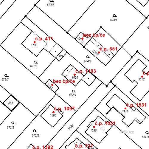 Katastrální mapa Stavební objekt Neratovice 1103, Neratovice
