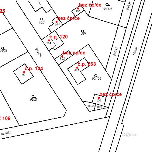 Katastrální mapa Stavební objekt Měšice 268, Měšice