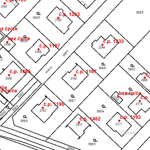 Katastrální mapa Stavební objekt Neratovice 1197, Neratovice