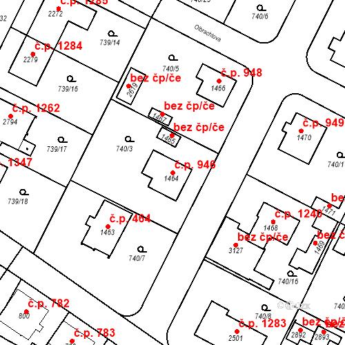 Katastrální mapa Stavební objekt Neratovice 946, Neratovice