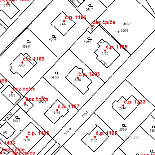 Katastrální mapa Stavební objekt Neratovice 1203, Neratovice