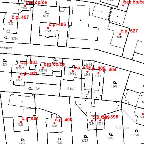 Katastrální mapa Stavební objekt Třeboň II 513, Třeboň
