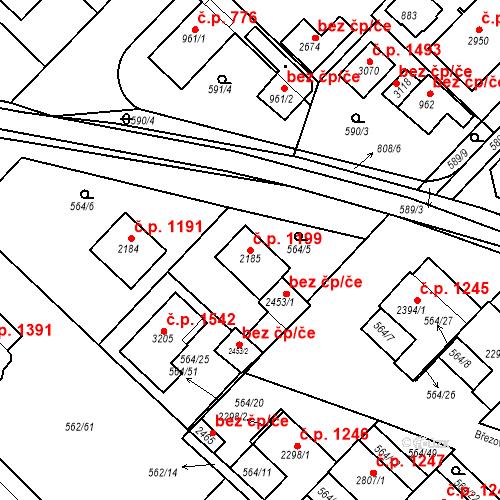 Katastrální mapa Stavební objekt Neratovice 1199, Neratovice