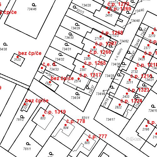 Katastrální mapa Stavební objekt Neratovice 1217, Neratovice