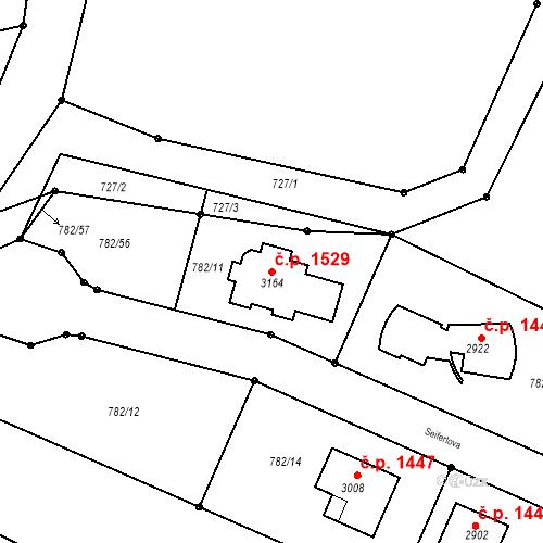 Katastrální mapa Stavební objekt Neratovice 1529, Neratovice