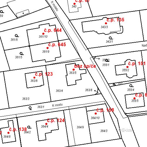 Katastrální mapa Stavební objekt Újezd u Průhonic 115, Praha