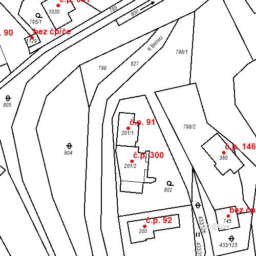 Katastrální mapa Stavební objekt Osnice 91, Jesenice