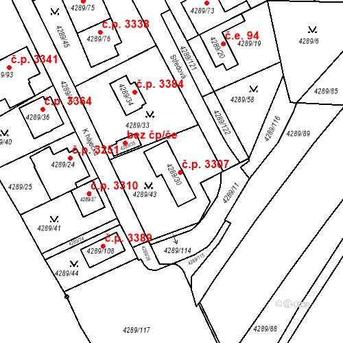 Katastrální mapa Stavební objekt Strašnice 3307, Praha