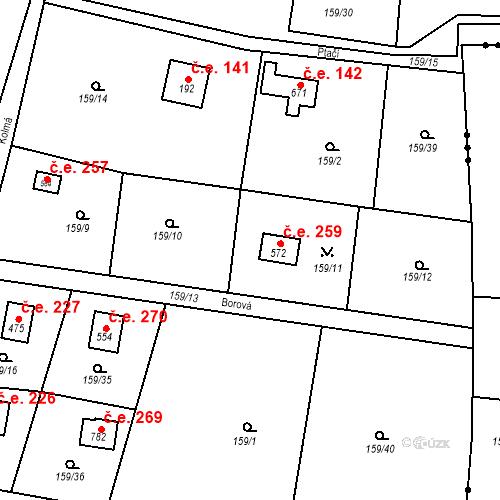 Katastrální mapa Stavební objekt Dolní Jirčany 478