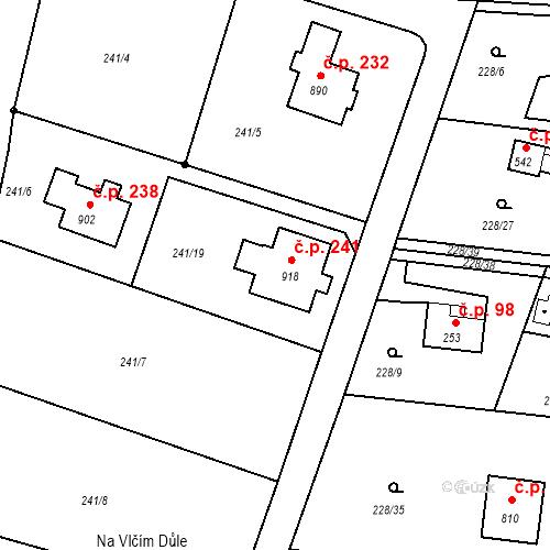 Katastrální mapa Stavební objekt Krhanice 241, Krhanice