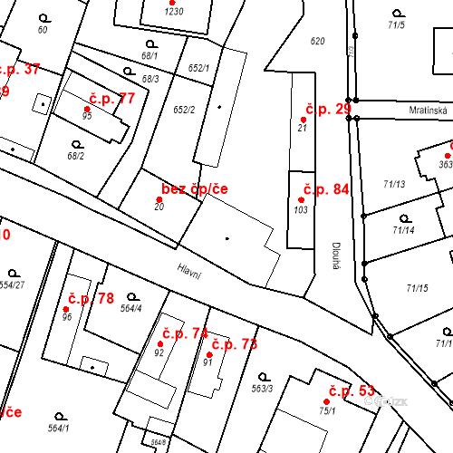 Katastrální mapa Stavební objekt Bašť 29, Bašť