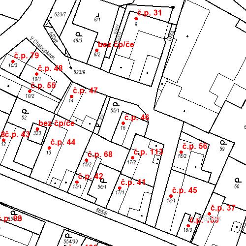 Katastrální mapa Stavební objekt Bašť 46, Bašť