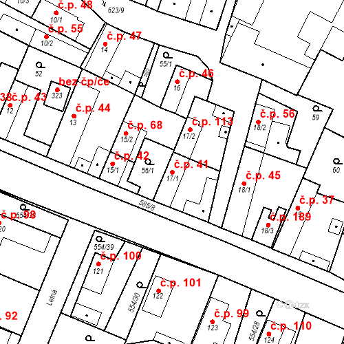 Katastrální mapa Stavební objekt Bašť 41, Bašť