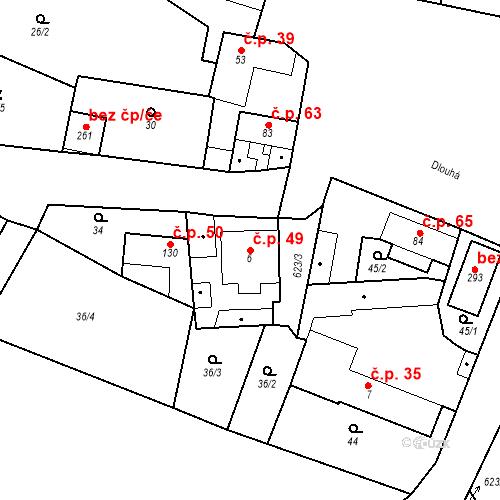 Katastrální mapa Stavební objekt Bašť 49, Bašť