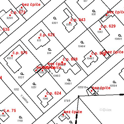 Katastrální mapa Stavební objekt Šeberov 808, Praha