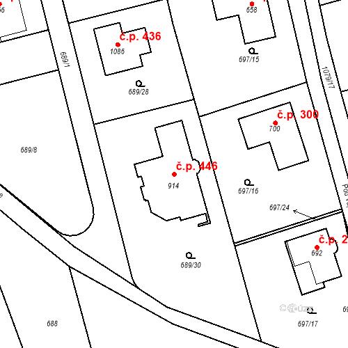 Katastrální mapa Stavební objekt Psáry 446, Psáry