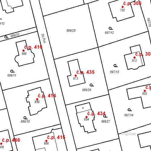 Katastrální mapa Stavební objekt Psáry 435, Psáry