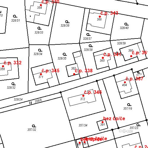 Katastrální mapa Stavební objekt Dolní Poustevna 338, Dolní Poustevna