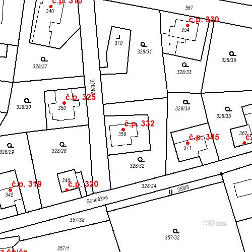 Katastrální mapa Stavební objekt Dolní Poustevna 332, Dolní Poustevna