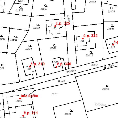 Katastrální mapa Stavební objekt Dolní Poustevna 320, Dolní Poustevna
