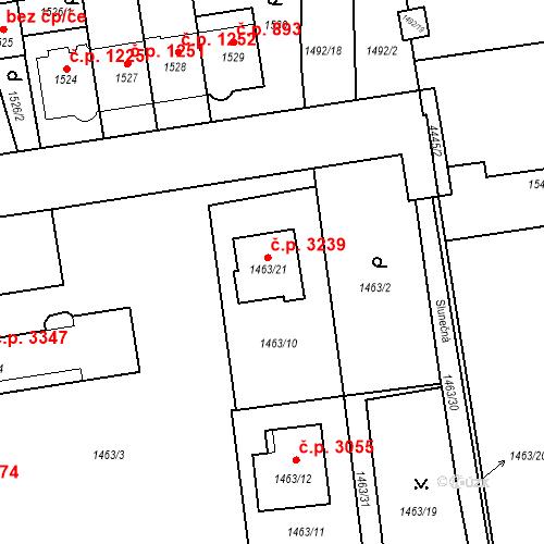 Katastrální mapa Stavební objekt Strašnice 3239, Praha