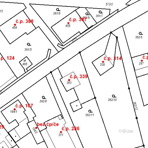 Katastrální mapa Stavební objekt Dolní Poustevna 339, Dolní Poustevna