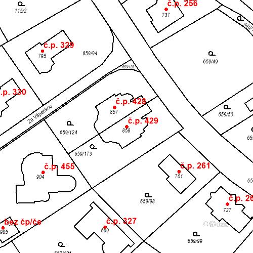 Katastrální mapa Stavební objekt Psáry 429, Psáry