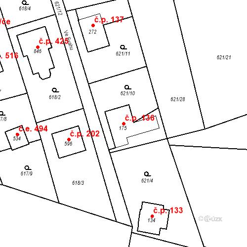 Katastrální mapa Stavební objekt Psáry 136, Psáry