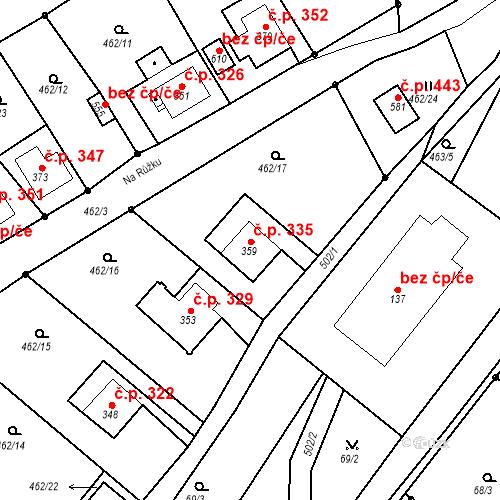 Katastrální mapa Stavební objekt Dolní Poustevna 335, Dolní Poustevna